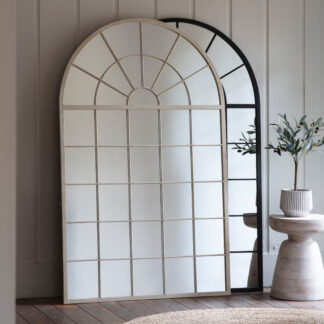 Hemsworth Leaner Mirror White