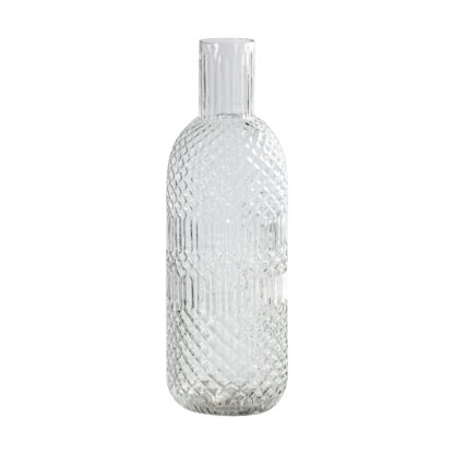 Fougere Bottle Vase Clear