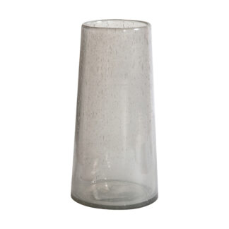 Perrel Bubble Glass Vase Small Clear