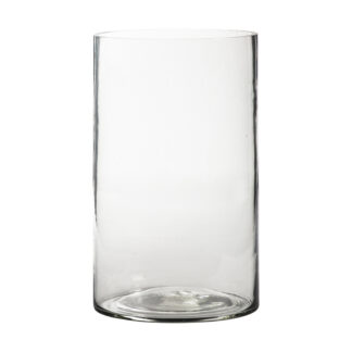 Drayes Bubble Glass Vase Small Clear