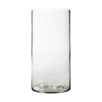 Drayes Bubble Glass Vase Large Clear