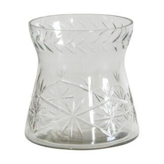 Bauzon Crystal Cut Vase Small Clear
