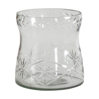 Bauzon Crystal Cut Vase Large Clear