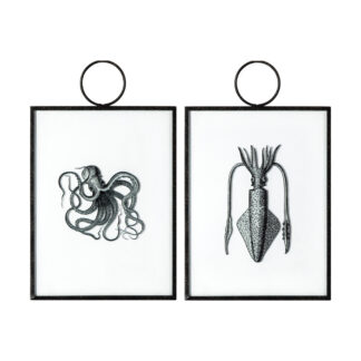 Creatures of the Deep Hanging Art Set of 2