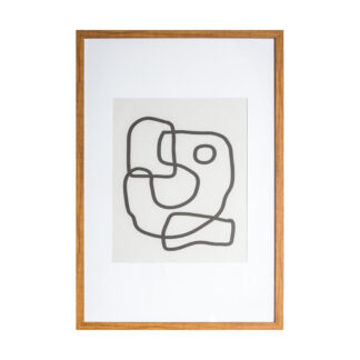 Misina Line Drawing Framed Art