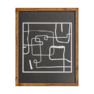 Ros Line Drawing Framed Art