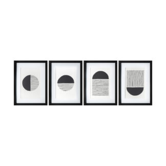 Etched Formation Framed Art Set of 4