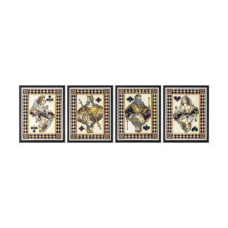 Royal Flush Framed Art Set of 4