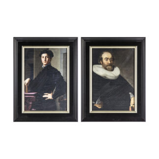 Regal Gentleman Framed Art Set of 2