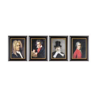 The 4 Composers Framed Art Set of 4