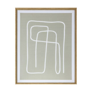 Earthen Line Drawing Framed Art