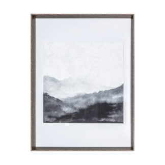 Dark Valley Abstract Print Framed Art