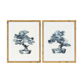 Bonsai Ink Abstract Studies Framed Art Set of 2