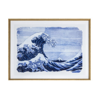 Great Wave Blue Framed Art