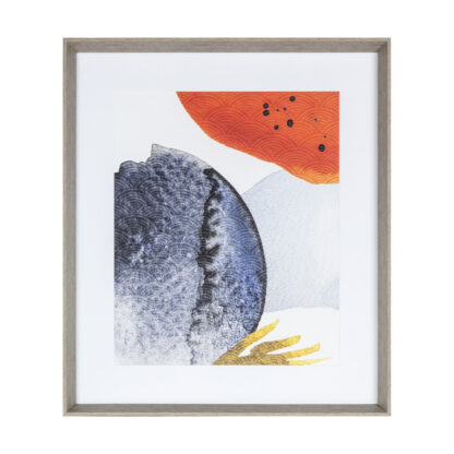 Overlapping Ink Abstract Framed Art