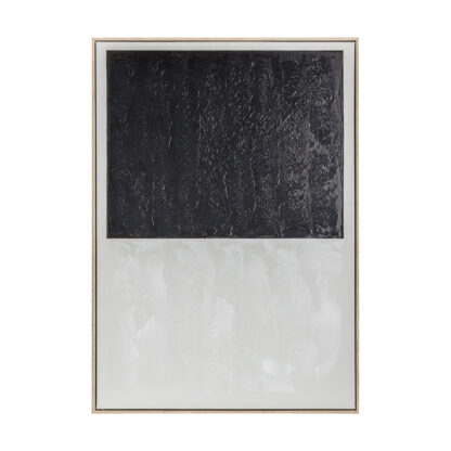 Void I Abstract Framed Canvas