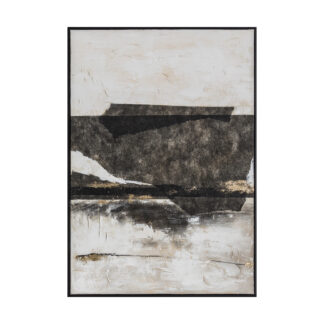 Cliffs Edge Abstract Framed Canvas