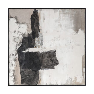 Rocks Point Abstract Framed Canvas