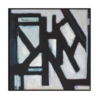 Crossways Abstract Framed Canvas