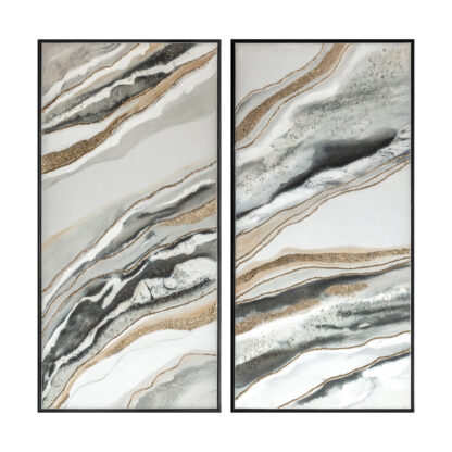 Mineral Abstract Framed Canvas