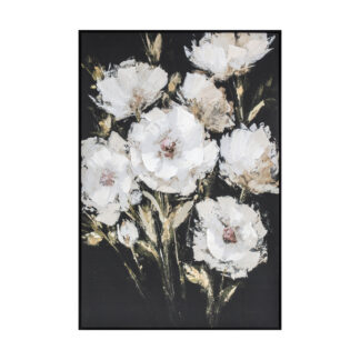 Painted Peonies Framed Canvas