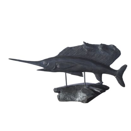Vegan Fishing Trophy - Marlin Black Wood
