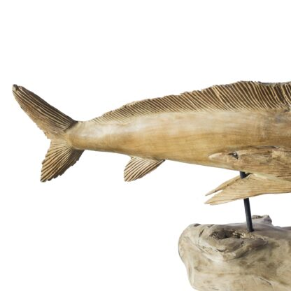 Vegan Fishing Trophy - Swordfish Natural Wood