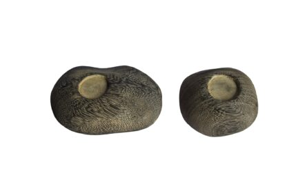 Wooden Tealight Pebbles set of 2 (Pack of 4)