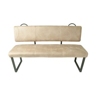 Healey Backseat Dining Bench in Moleskin Oyster