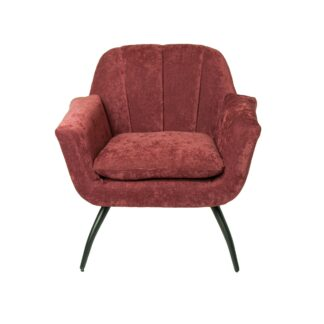 Shelby Cocktail Chair - Chenille Berry