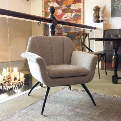 Shelby Cocktail Chair - Chenille Grey