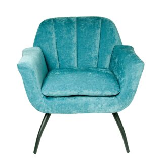 Shelby Cocktail Chair - Chenille Ocean