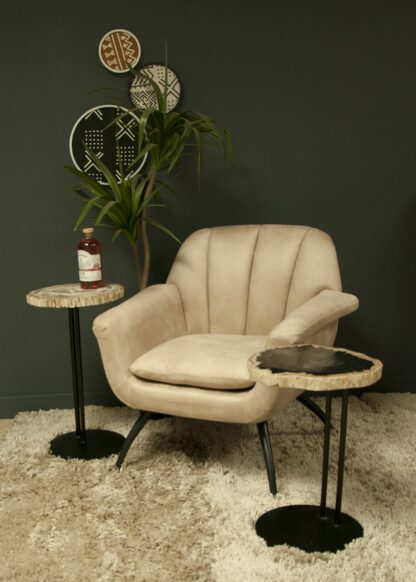 Shelby Cocktail Chair - Moleskin Oyster