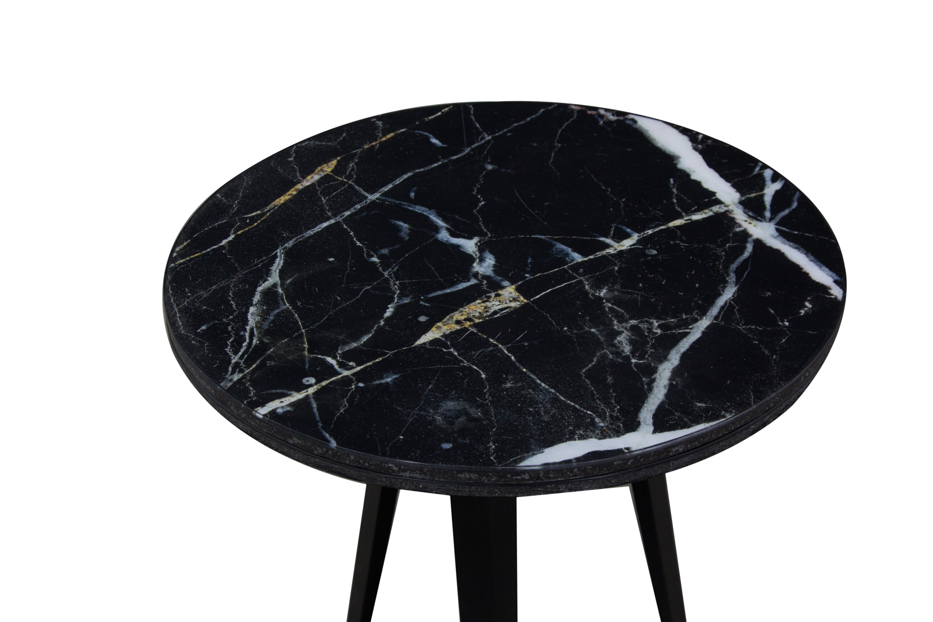 Marble Top Lamp Table - Black