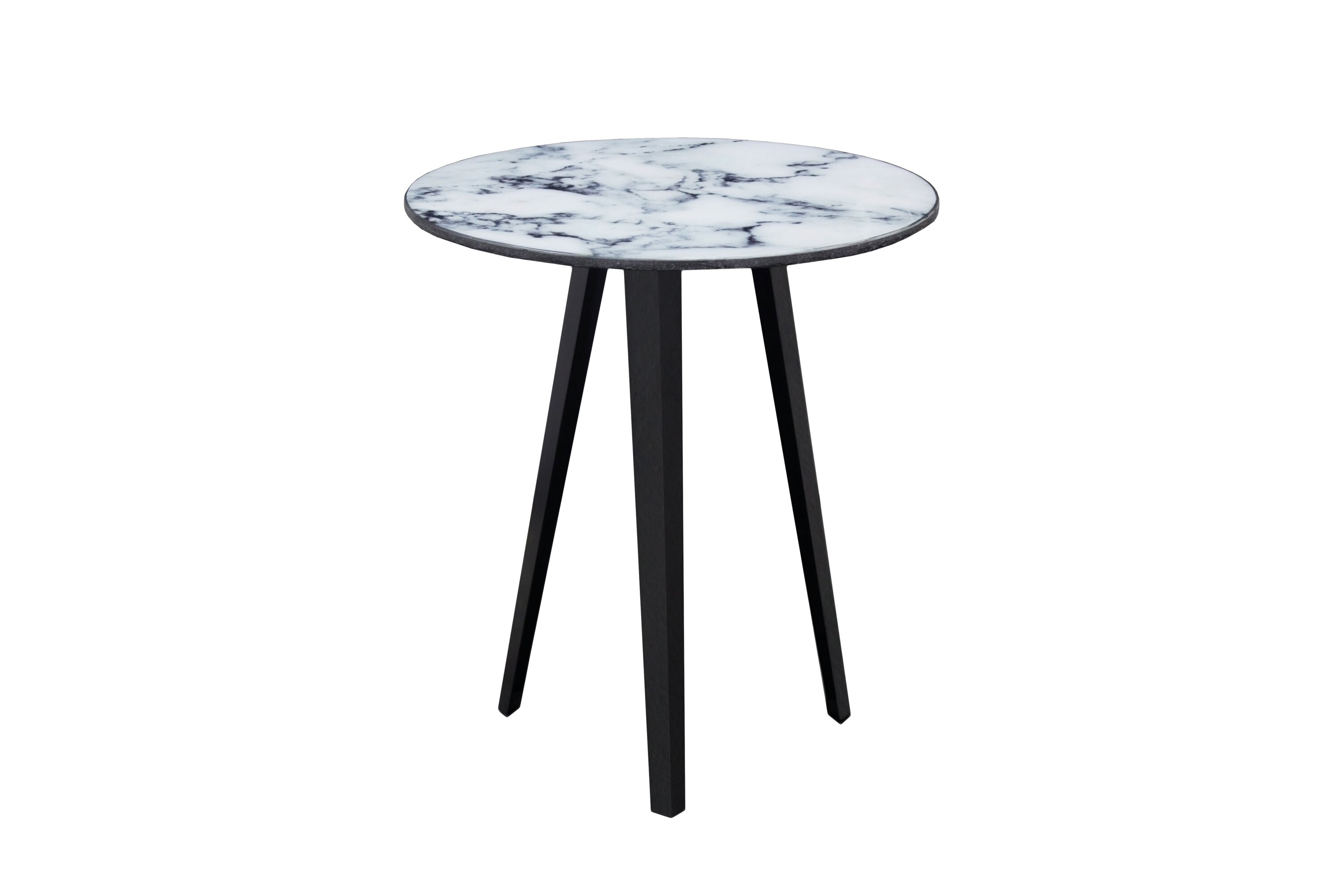 Marble Top Lamp Table - White