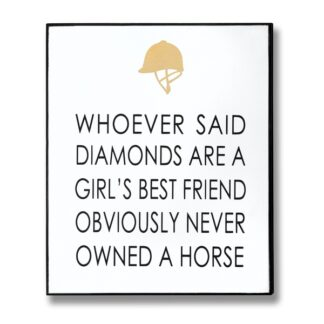 Owned A Horse Gold Foil Plaque