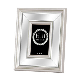 Silver Bevelled Mirrored Photo Frame 4X6
