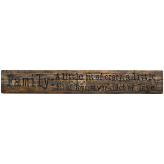Family Large Rustic Wooden Message Plaque