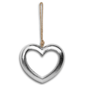Casted Silver Cut Out Heart