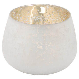 The Noel Collection Large White Patterened Candle Holder