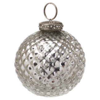 The Noel Collection Silver Christmas Bauble