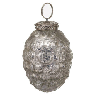 The Noel Collection Silver Hanging Acorn