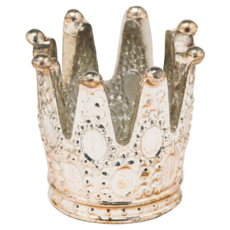The Noel Collection Burnished  Crown Tealight Holder