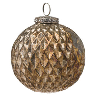 The Noel Collection Burnished  Large Honeycomb Bauble