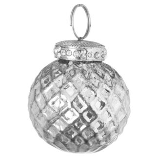 The Noel Collection Silver Small Honeycombe Bauble