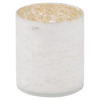 The Noel Collection White Pillar Candle Holder
