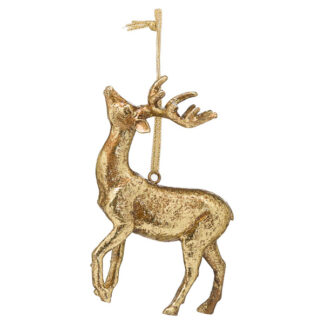 Hanging Gold Stag Ornament