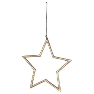 The Noel Collection Hanging Large Brass Star