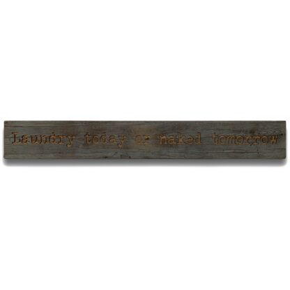 Laundry Grey Wash Wooden Message Plaque