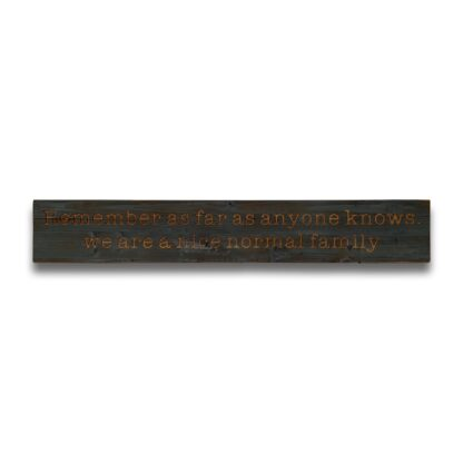 Normal Family Grey Wash Wooden Message Plaque
